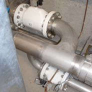 AKO pinch valves in pipeline systems in sewage treatment plants