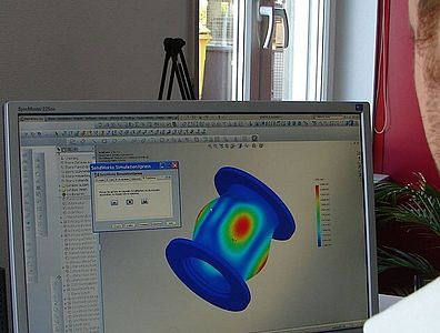 In-house pressure simulation software