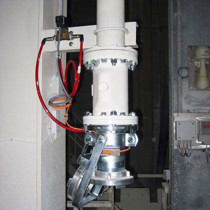 A pinch valve from AKO used as a control valves on a riser