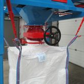 Mechanical pinch valve controls the filling of big bags