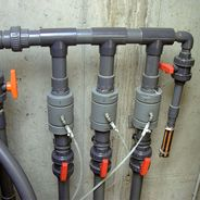 Pinch valves from AKO used as shut-off valves in water treatment