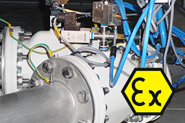 Pinch valves can be configured to conform with ATEX requirements