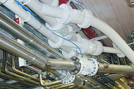 Pinch valves are used in pneumatic conveyor systems