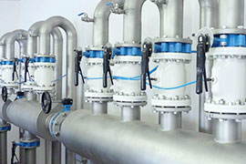 Pinch valves are used in sewage treatment plants and water treatment