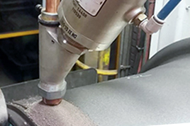 AKO pinch valves used as control valves for soldering agent in submerged welding technology