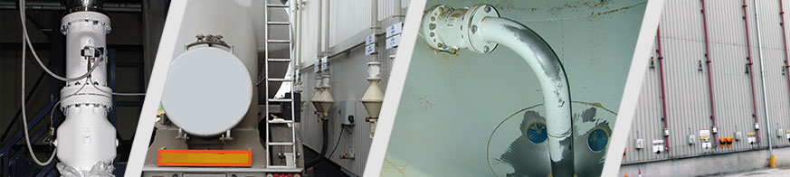 AKO pinch valves control the filling and emptying of silos