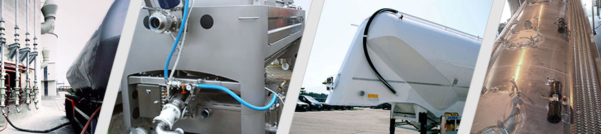 AKO pinch valves are installed in silo trucks and tankers, as well as in commercial vehicles