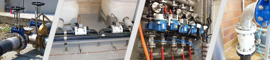 AKO pinch valves and knife gate valves control various media in sewage treatment plants