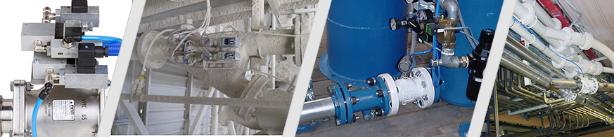 AKO pinch valves are used as control and shut-off valves in pneumatic conveyor technology