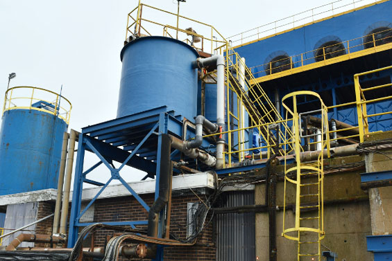 AKO pinch valves control acidic water in steelworks